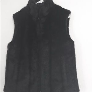 Women's size small Giacca fur like sweater vest